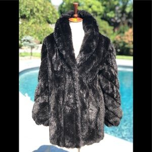 Jackets & Blazers - Monterey fashions sz XS black faux fur coat